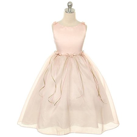 Kids Dream Little Girls Rose Rosebud Organza Flower Girl Dress 2 - Flower Girl Dresses Organza