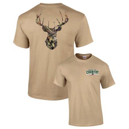 Mossy Oak Camoflage Deer Head Men's Hunting T-Shirt