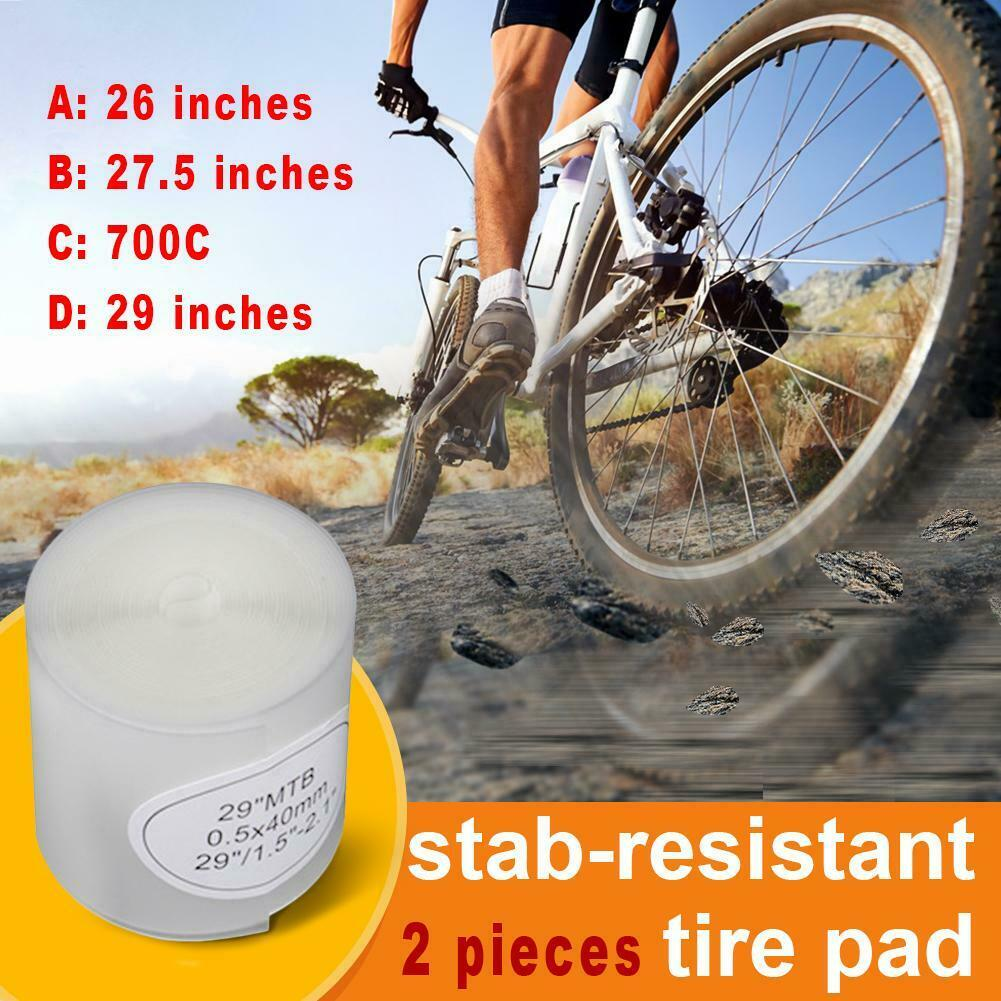 DURABLE 2 ROLL MTB ROAD BICYCLE TIRE LINER PUNCTURE PROOF BELT PROTECTION PAD