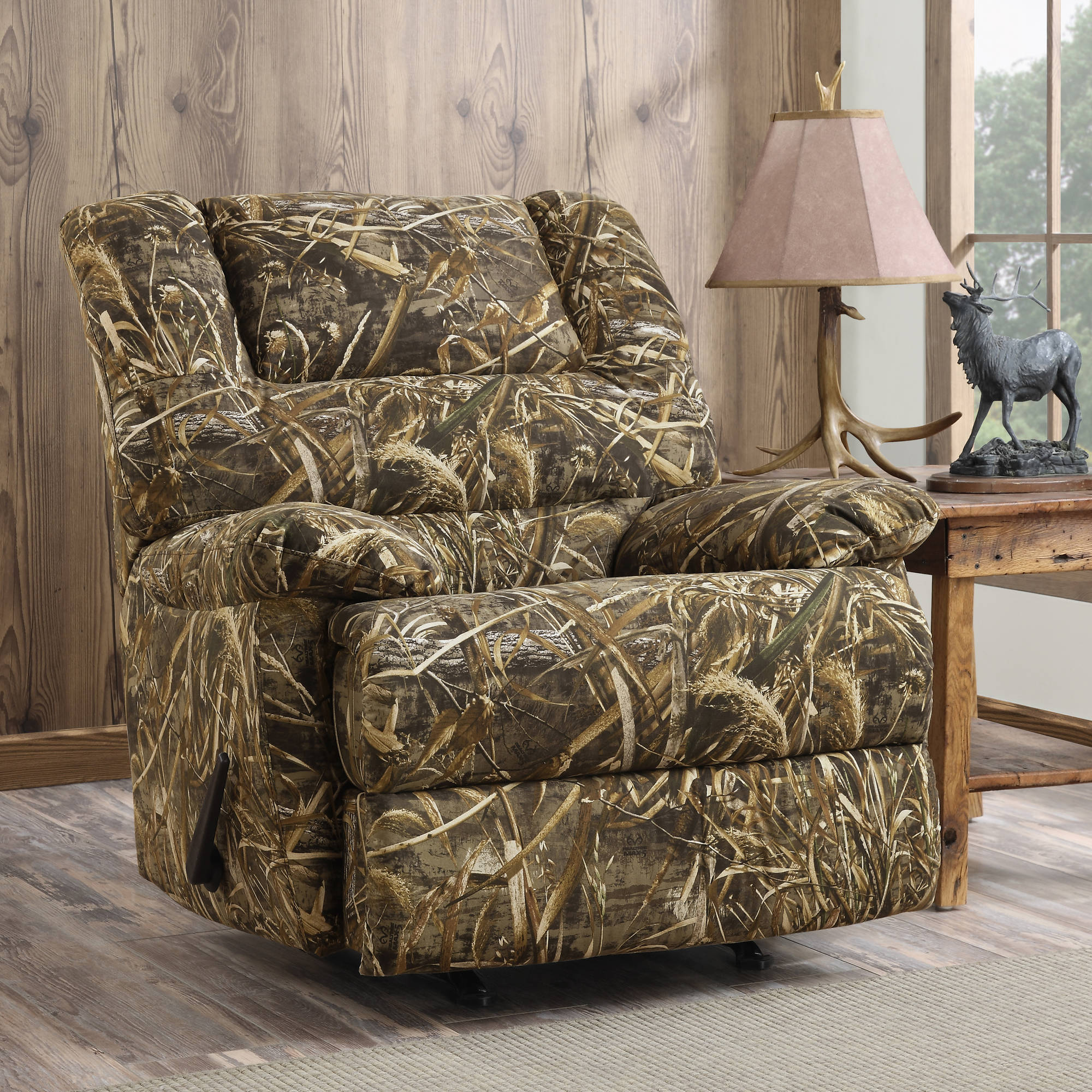 Dorel Living Realtree Camouflage Deluxe Recliner, Camo - Walmart.Com