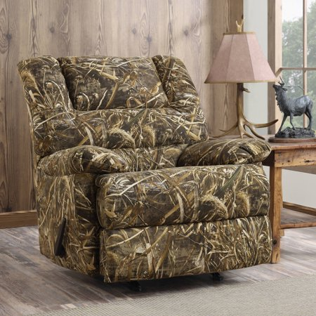 Dorel Living Realtree Camouflage Deluxe Recliner And Max 5 Futon