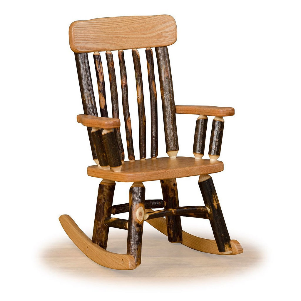 Kunkle Holdings LLC Rustic Hickory OR Hickory & Oak Twig Back Childrens' Rocking Chair