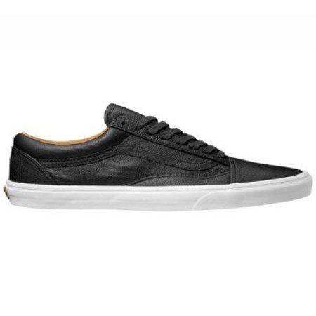 93d4aaf598 Vans - Vans Unisex Premium Leather Old Skool Black Skate Shoes (7 D(M) US