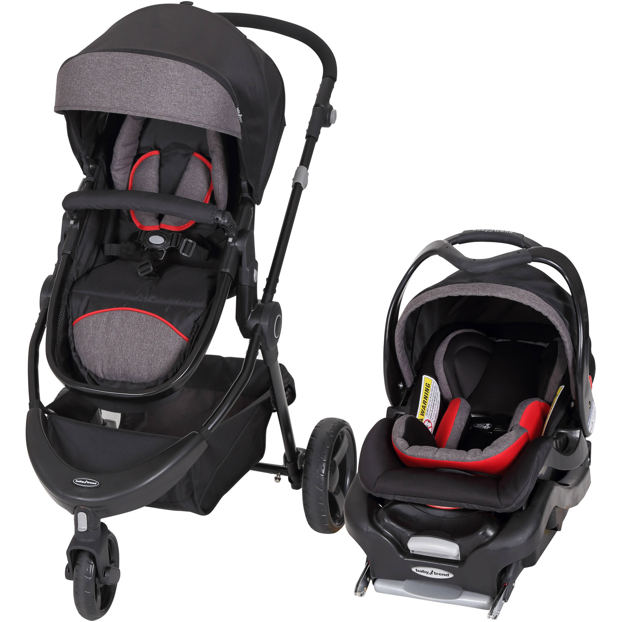 Baby Trend 1st Debut 3-Wheel Travel System, Red