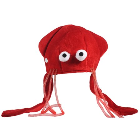 RED LIGHTUP SQUID CAP - Jacobson Hats Co - COSTUMES GAG - Squid Hat