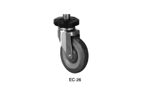 "Advance Tabco 5"" Stem Caster Set-Poly Model EC-26 by Advance Tabco"