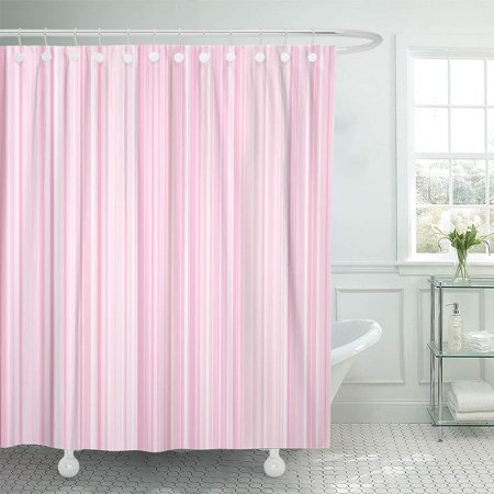ATABIE Pink Stripe Background Pattern Wallpaper Texture Line Vertical Design Fashion Shower Curtain 60x72 inch Stripe Wallpaper Design