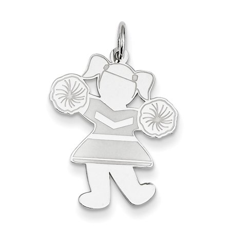 Sterling Silver Hip Hip Hooray Cuddle Charm XK1833SS (26mm x 20mm) - image 2 of 2