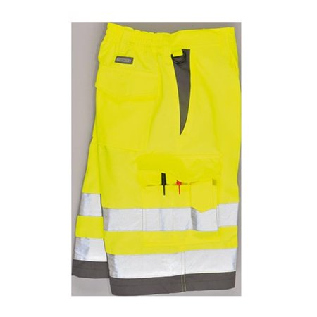 Portwest E043 Small Hi-Visibility Poly Cotton Shorts, Yellow & Grey - image 1 de 1