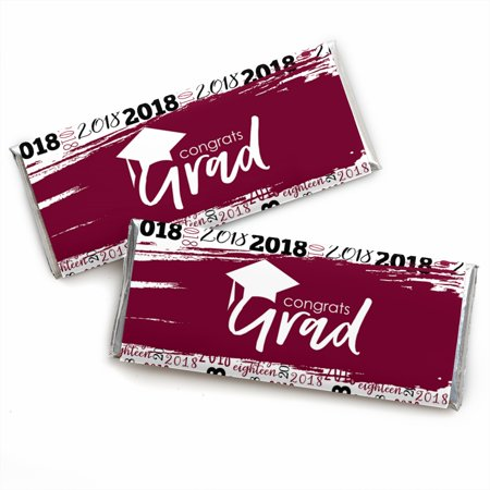 Maroon Grad - Best is Yet to Come - Burgundy 2018 Graduation Candy Bar Wrappers Party Favors - Set of - Maroon Candy