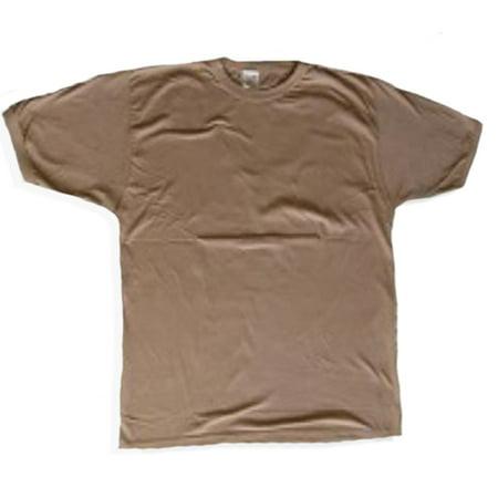 A Camouflage T-SHIRT Mens & Womens (TAN), Medium (Tan T-shirt Tee)