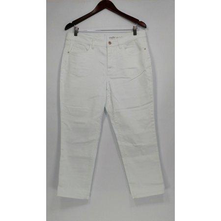 Denim & Co. Women's Petite Jeans 12P Studio Classic Denim White A304477 ()