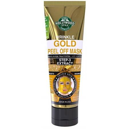 Hollywood Style Gold Peel Off Mask Tube Wrinkle 3.2 oz