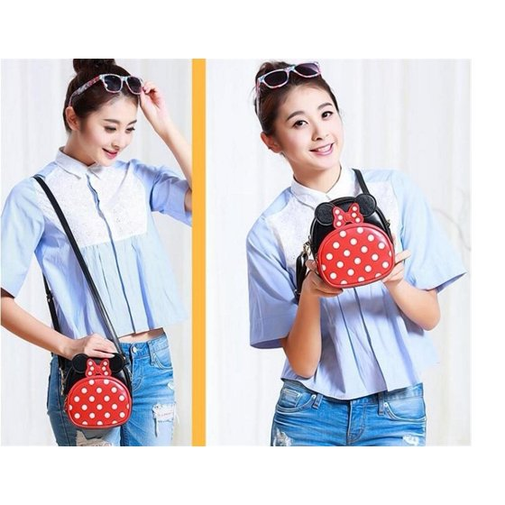 42b6834449b8 BRAND - Finex® Minnie Mouse style Small 2-in-1 Crossbody bag/ Mini ...