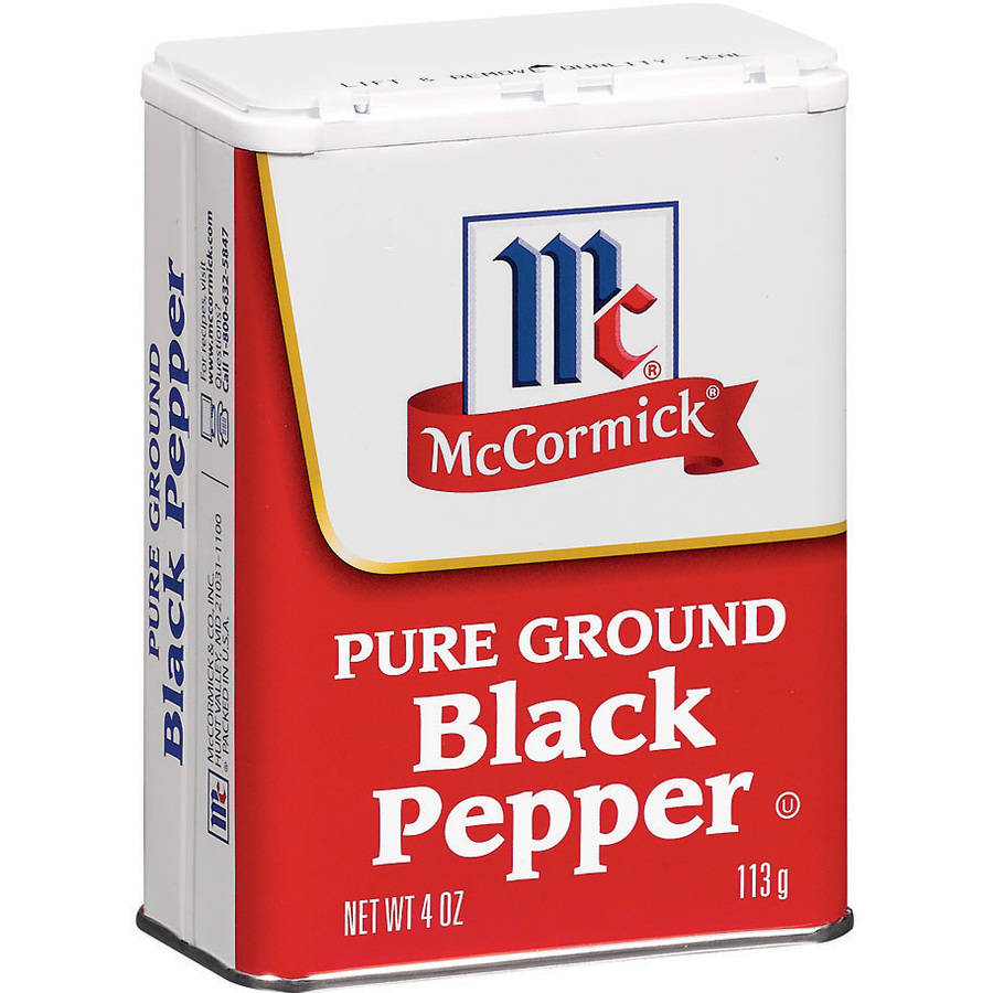 McCormick Ground Pure Black Pepper, 4 oz