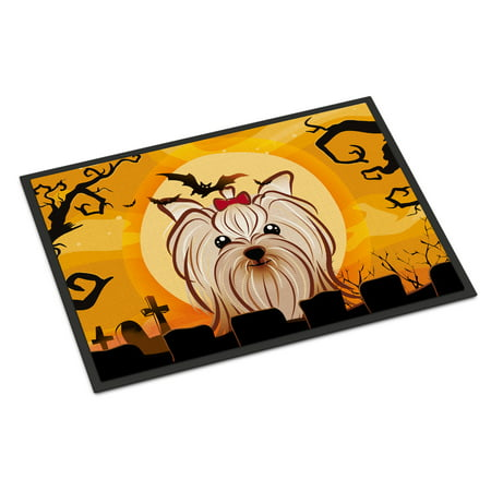 Halloween Yorkie Yorkshire Terrier Door Mat](Halloween Math)