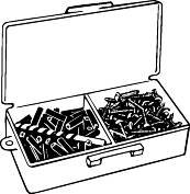 HODELL-NATCO WALL ANCHORS KIT WITH #10 PHILLIPS SCREWS per 3 Box