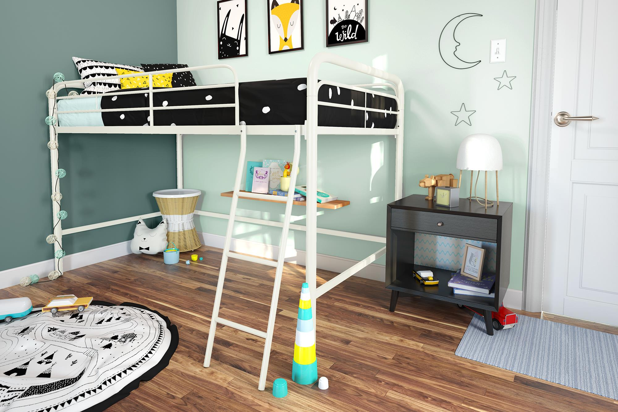 Adeline Junior Metal Loft Bed - Dorel Home Products