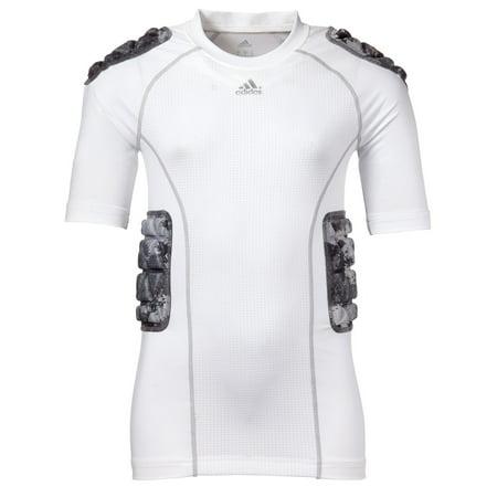 adidas Youth Padded techfit Camo Football Shirt (White, XL) thumbnail