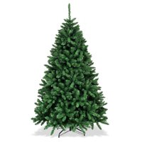 Costway 6ft Hinged Christmas Tree Douglas Full Fir Tree 1355 Tips