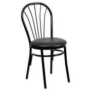 Flash Furniture HERCULES Series Fan Back Metal Chair, Vinyl Seat, Multiple Colors by Flash Furniture