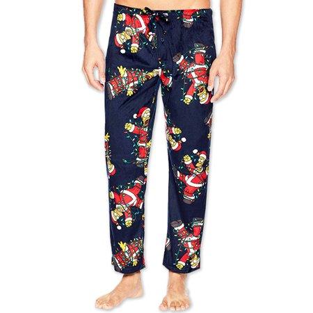 The Simpsons Homer Men's Fleece Holiday Christmas Lounge Pajama Pants SI119MPT - Holiday Christmas Pajamas