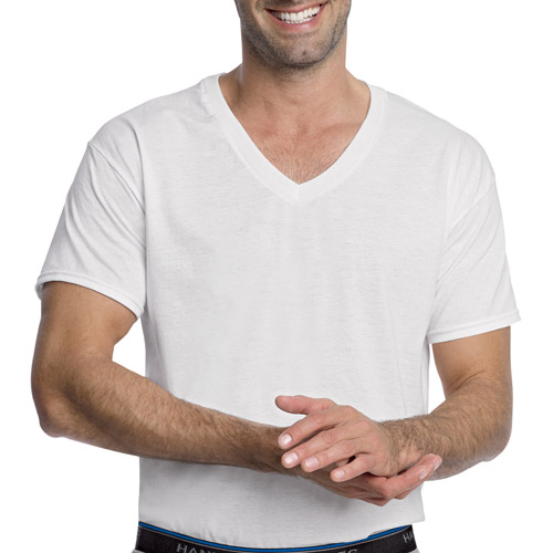 Hanes Big Men's 3 Pack Comfortblend White V-Neck T-Shirt