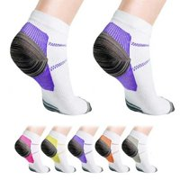 Extreme Fit Ankle Compression Socks for Men and Women, 3 Pair