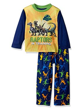 Jurassic World Raptor Dinosaur Toddler Boys Pajamas Set (2T, Navy)