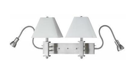 60W X 2 Wall Lamp W Led Reading Lg by CAL Lighting