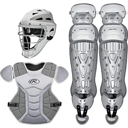 Rawlings Youth Velo Catcher's Set, White/Silver