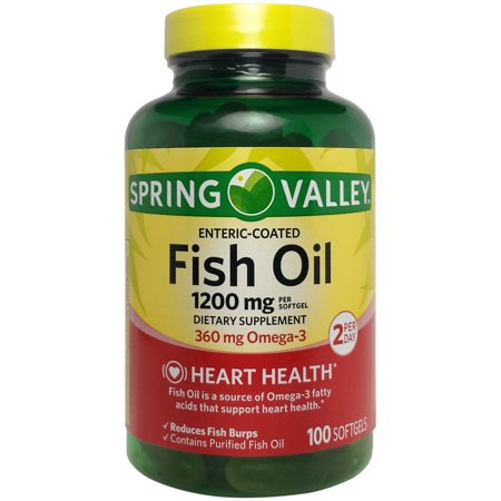 Spring valley fish oil enteric softgels 1200 mg 100 ct for Spring valley fish oil review