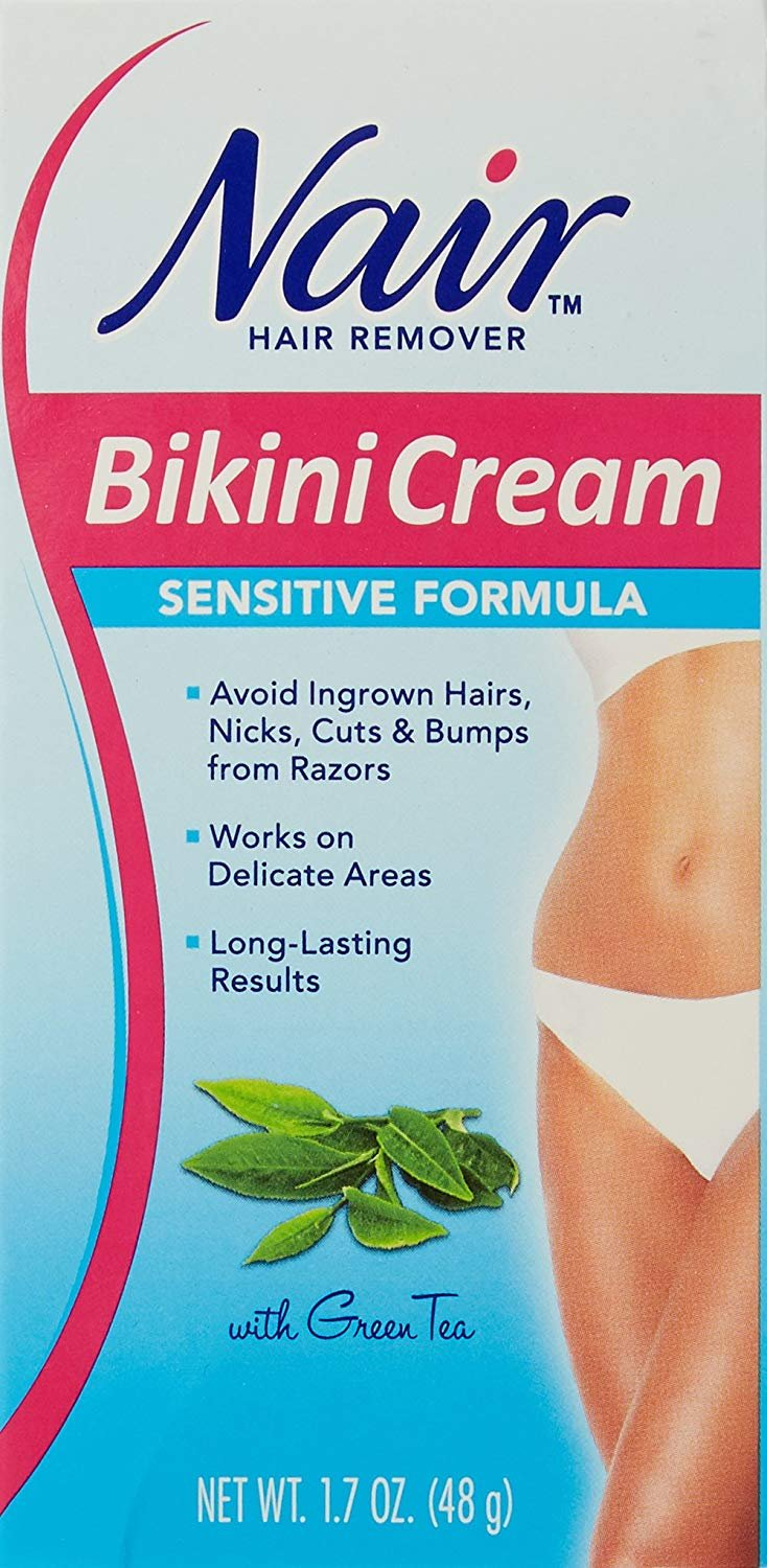 2 Pack Nair Hair Remover Bikini Cream With Green Tea Sensitive