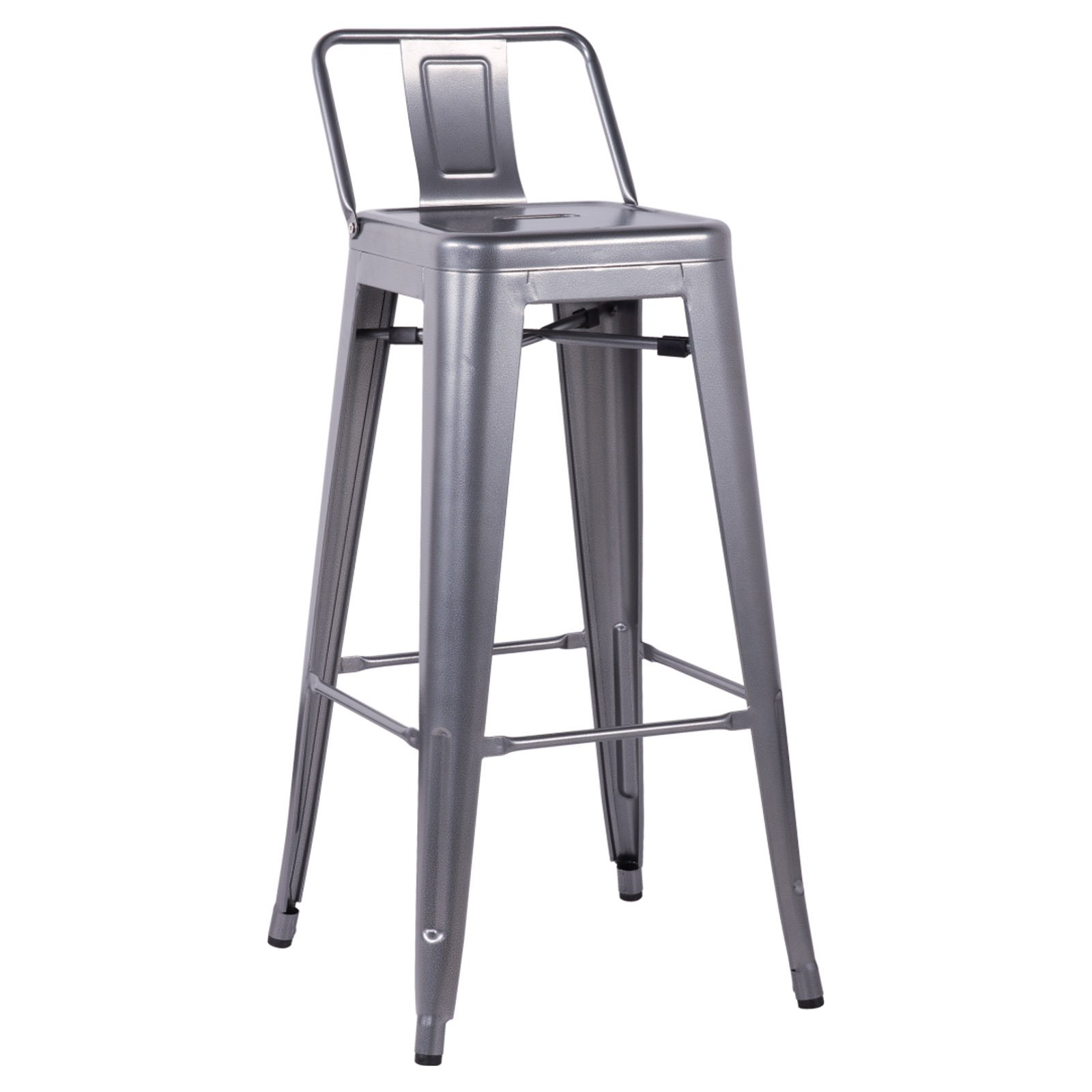 Chintaly Sorrento 30 In Galvanized Steel Bar Stools Set