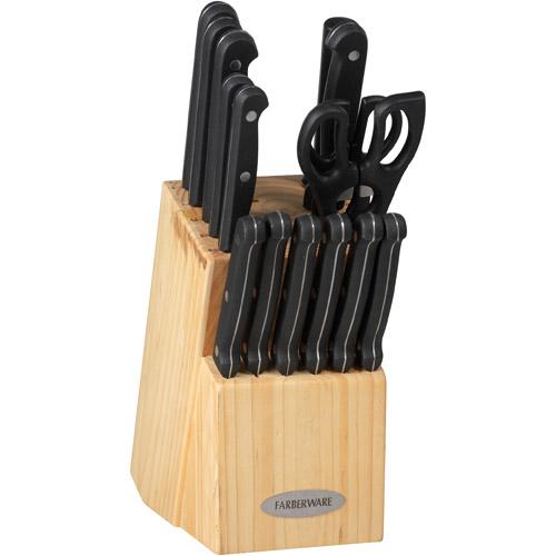 Farberware 17-Piece Triple-Riveted Knife Set
