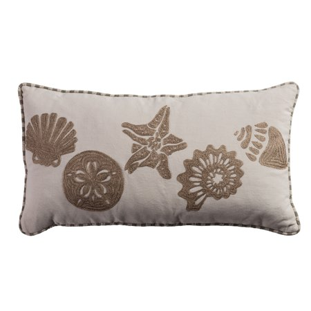 Rizzy Home One Of A Kind Pillow 11  X 21  In Light Beige Color