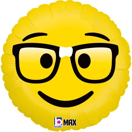 Emoji Nerd Mylar Balloon