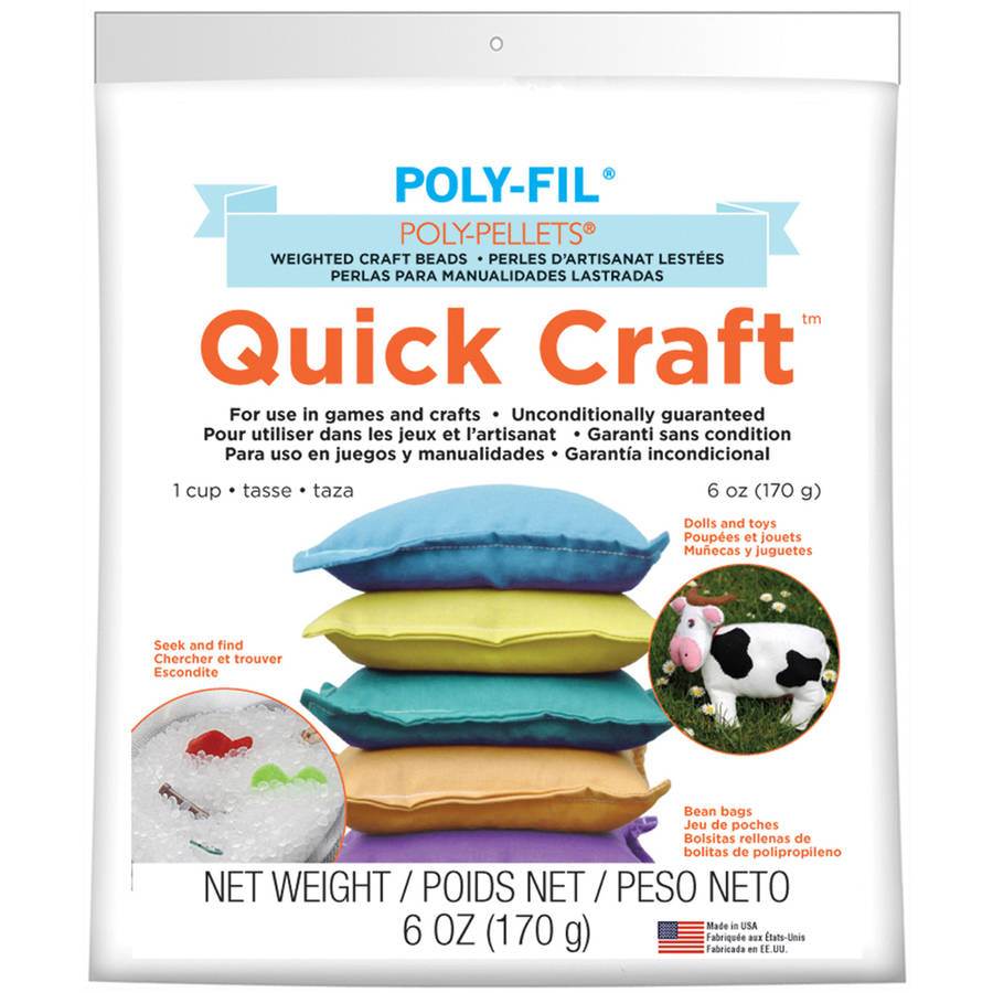 Quick Craft Weighted Poly-Pellets, 6 oz