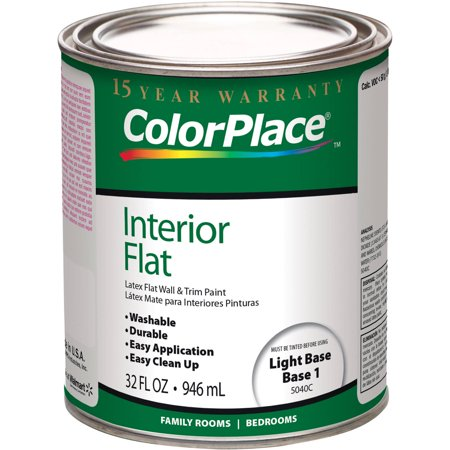 Colorplace Light Base Flat Interior Paint 1 Quart