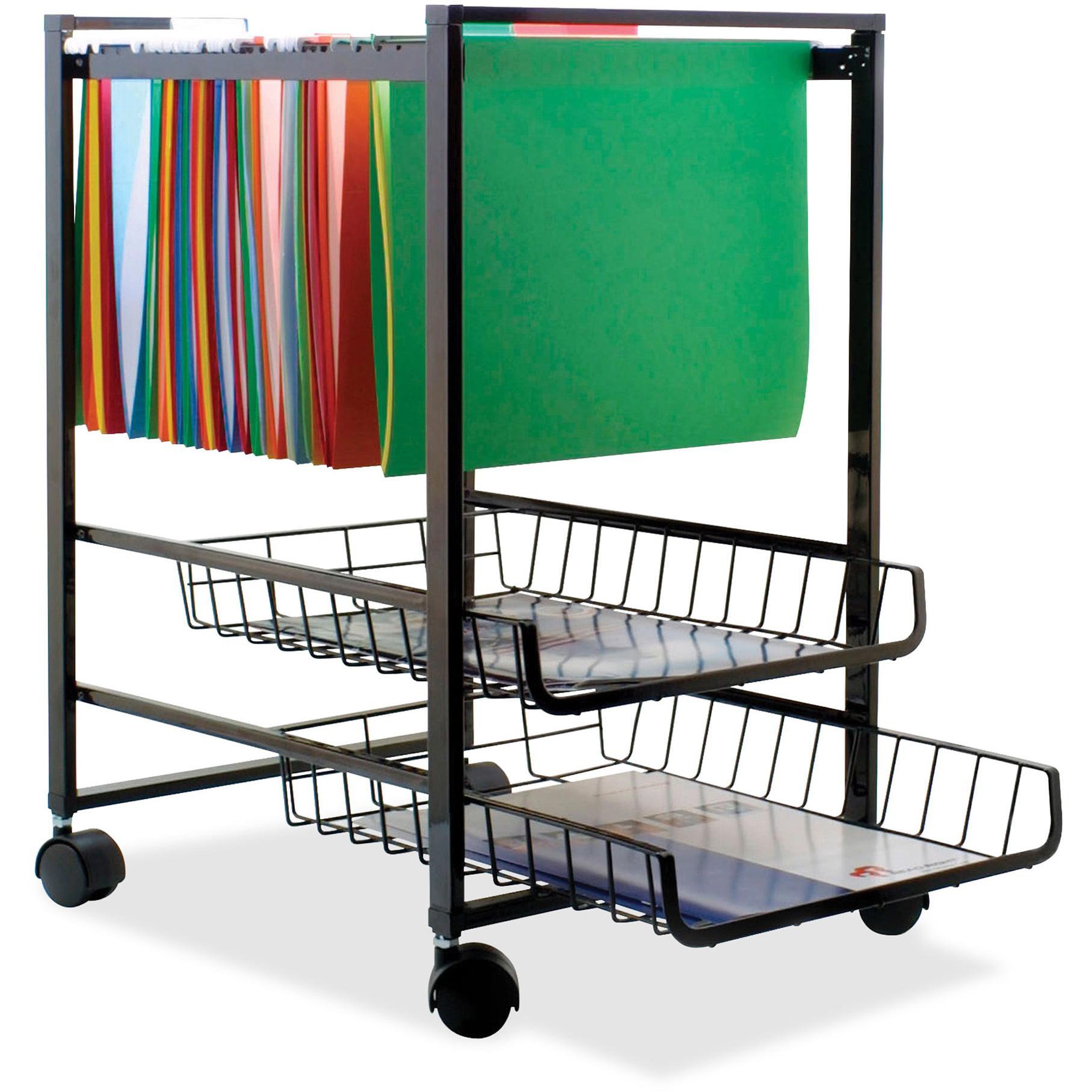 Advantus 2 Drawers Filing Cart , Black