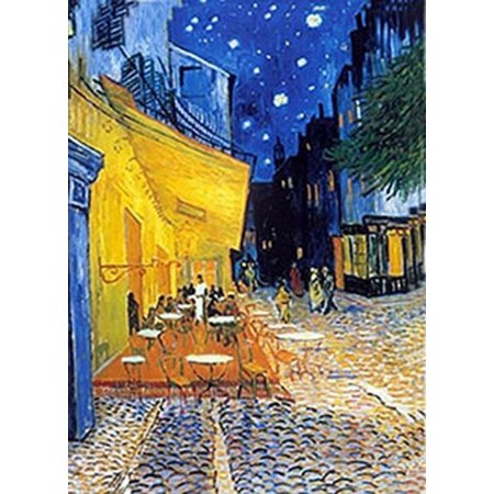 Van Gogh - 3D Lenticular Postcard Greeting Card - Cafe Terrace at Night (1888), Vincent Van Gogh - Cafe Terrace at Night (1888) By 3Dstereo