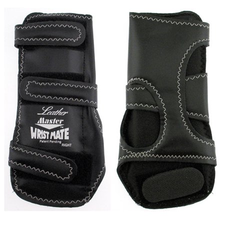 Black Regular Right Hand Throw - Master Leather Wrist Mate Bowling Support Right Hand, Regular