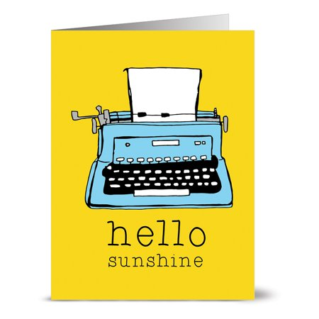 24 Note Cards - Hello Sunshine - Blank Cards - Yellow Envelopes (Sunshine Note)