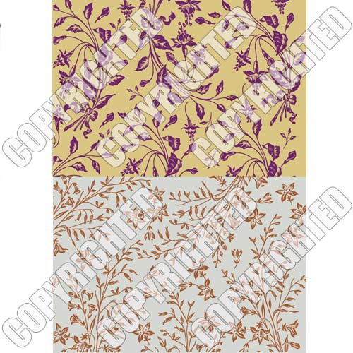 Nunn Design Collage Sheet Gold/Silver Floral For Scrapbook - Fits Patera