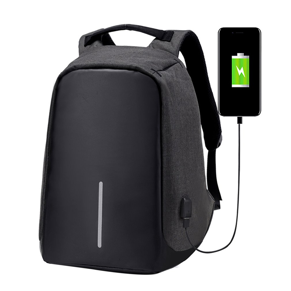 Large Capacity Waterproof Nylon Backpack Anti-theft Laptop Bags Travel School Bags With USB Port For Charging