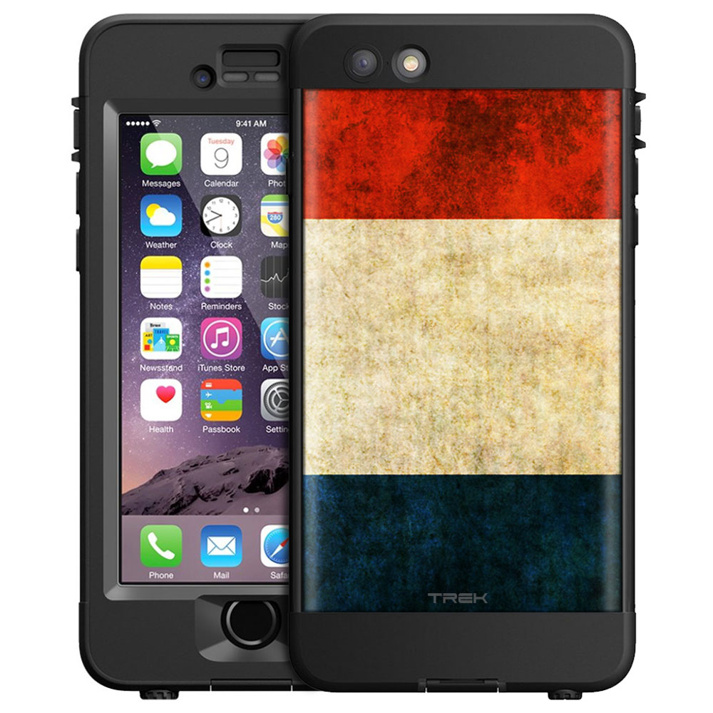 Skin Decal for LifeProof nüüd Apple iPhone 6 Plus Case Vintage Dutch Flag by Trek Media Group