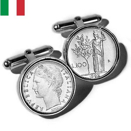 Lire Vatican Coin (Sterling Silver Italian Lire Coin Cufflinks )