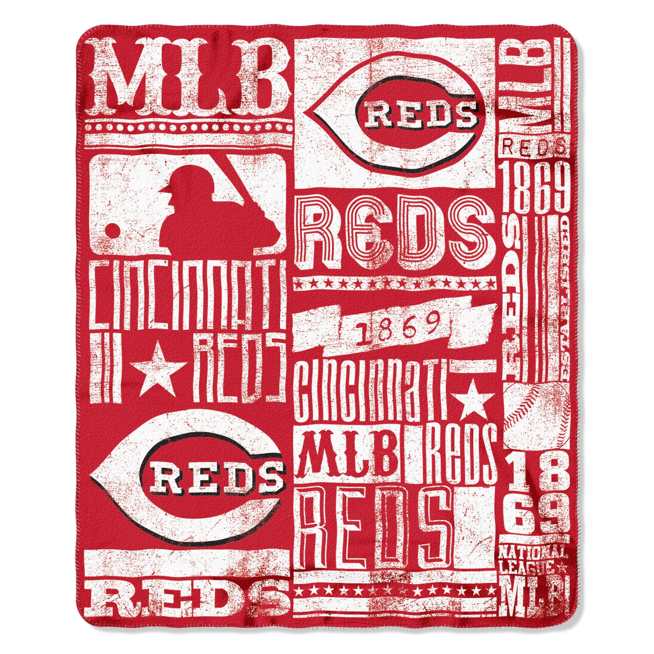Reds OFFICIAL Major League Baseball, Strength 50x 60 Fleece Throw  by The Northwest Company