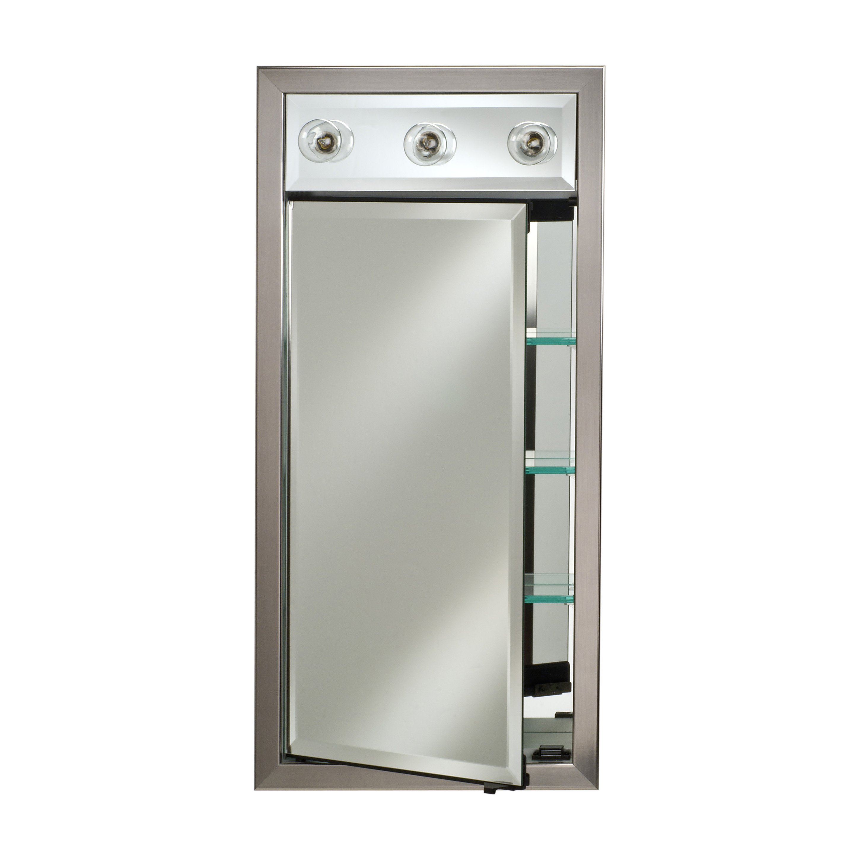 Afina Signature Collection Contemporary Lighted 17W x 40H in. Surface Mount Medicine Cabinet