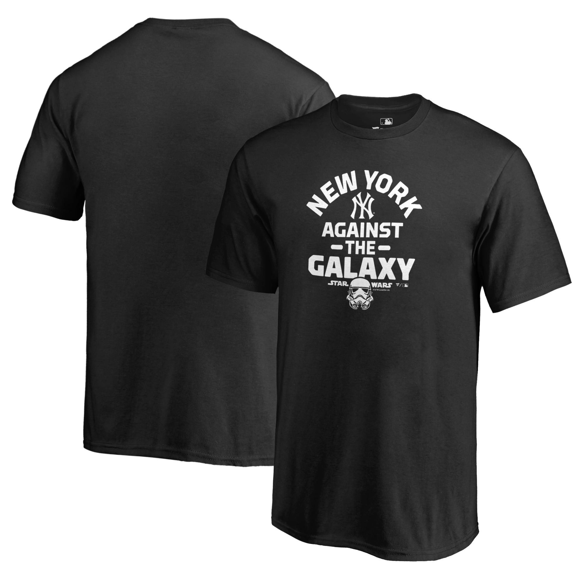 New York Yankees Fanatics Branded Youth MLB Star Wars Against The Galaxy T-Shirt - Black